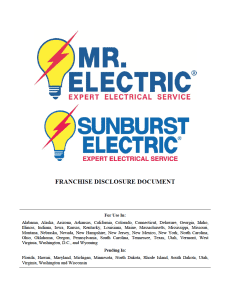 Mr Electrical/Sunburst Electric FDD