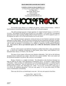 School of Rock FDD