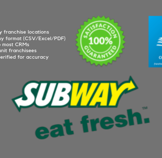 Subway Owners Contact List Database
