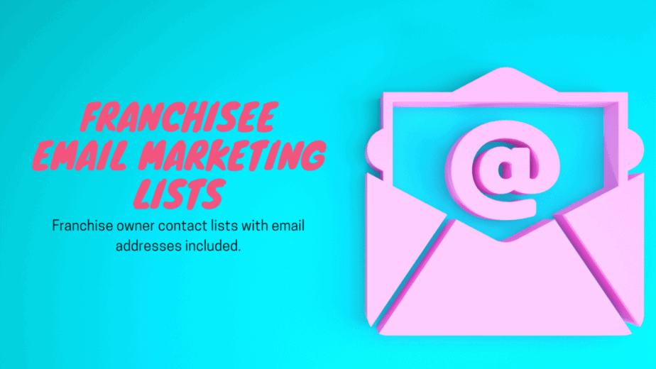 Franchisee email marketing lists